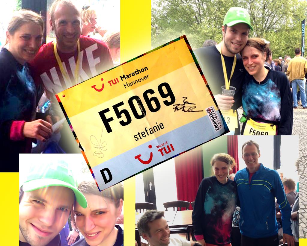 TUI Marathon Hannover: Hoher Blutzucker am Morgen und doch keine Sorgen. Mit Jan Fritschen, meinem Mann, OG Hannover und Dieter Baumgarten