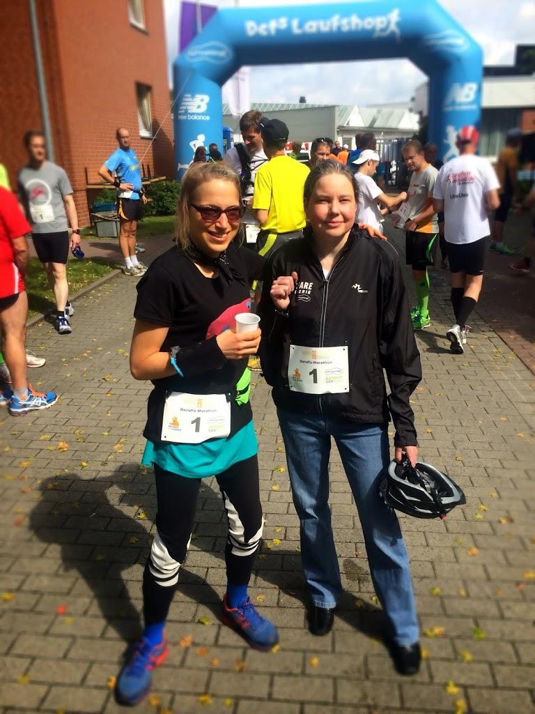 Ultra-Marathon Hannover: Mit Insa (Organisatorin des Mukoviszidose- Spenden-Laufs)