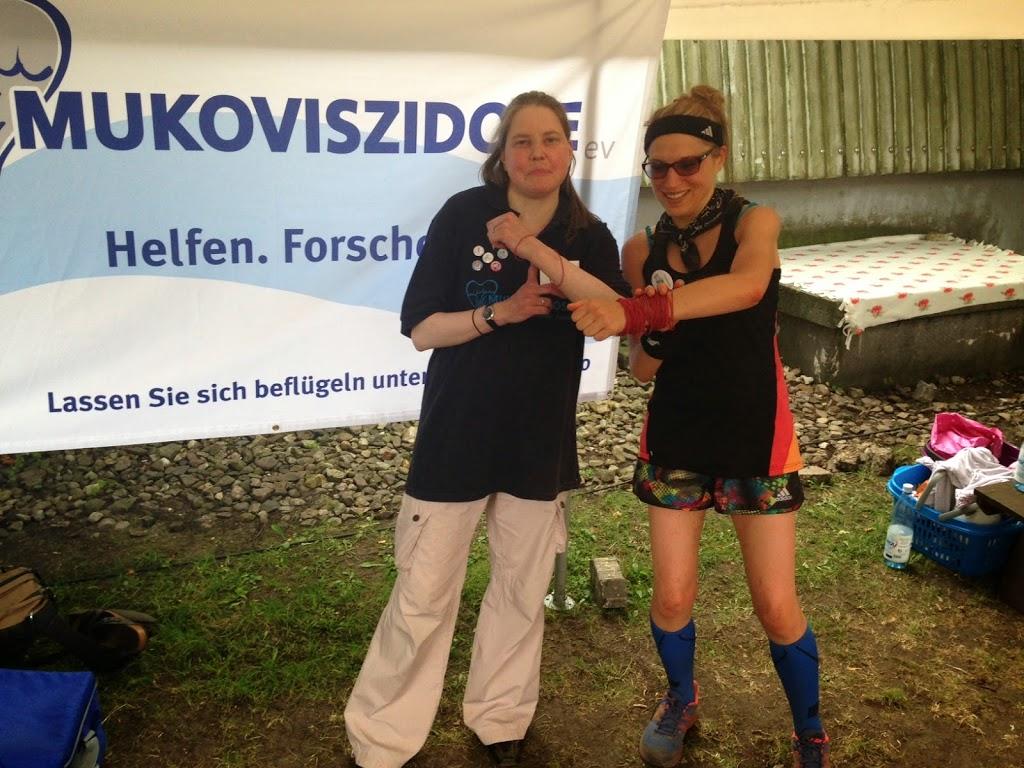"""Beim Mukoviszidose-Lauf habe ich Insa kennengelernt :), sie hat als """"Nebenerkrankung"""" Diabetes"""