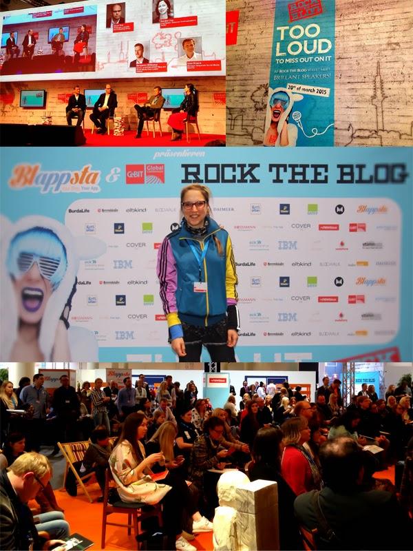 """Expertenwissen für Bloggger beim Event """"ROCK THE BLOG"""", das im Rahmen der CeBIT Global Conferences in Hannover stattfand."""