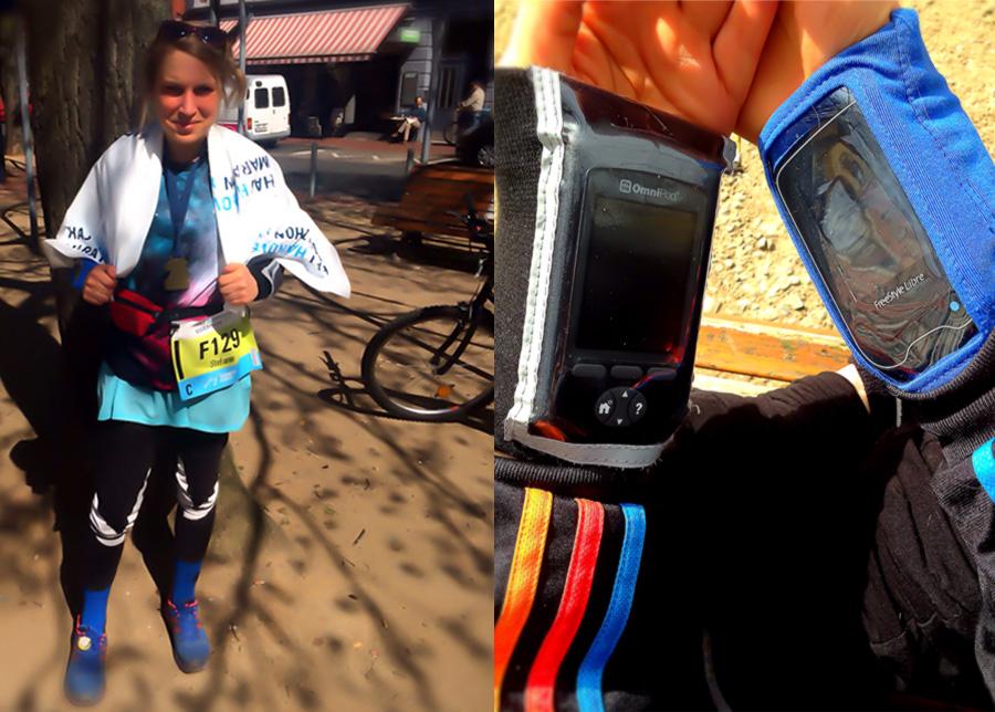 Diabetes-Taschen beim Marathon