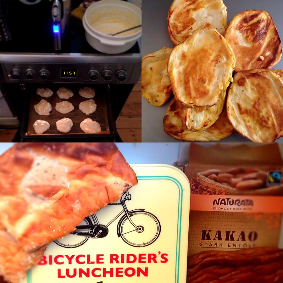 Oopsies mit Zimt, Kakao, Käse, Chia-Samen, ... als Brötchen, Fladen oder Pizza. Low-Carb? Von mir aus, klingt hipp.