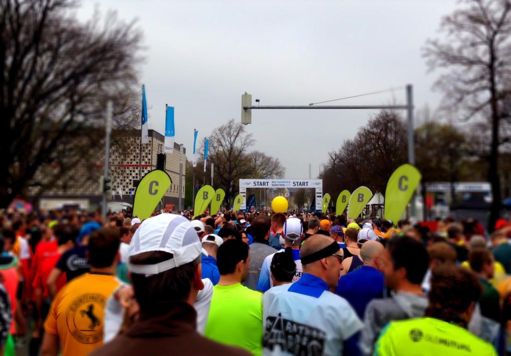 Startbereich Marathon Diabetes