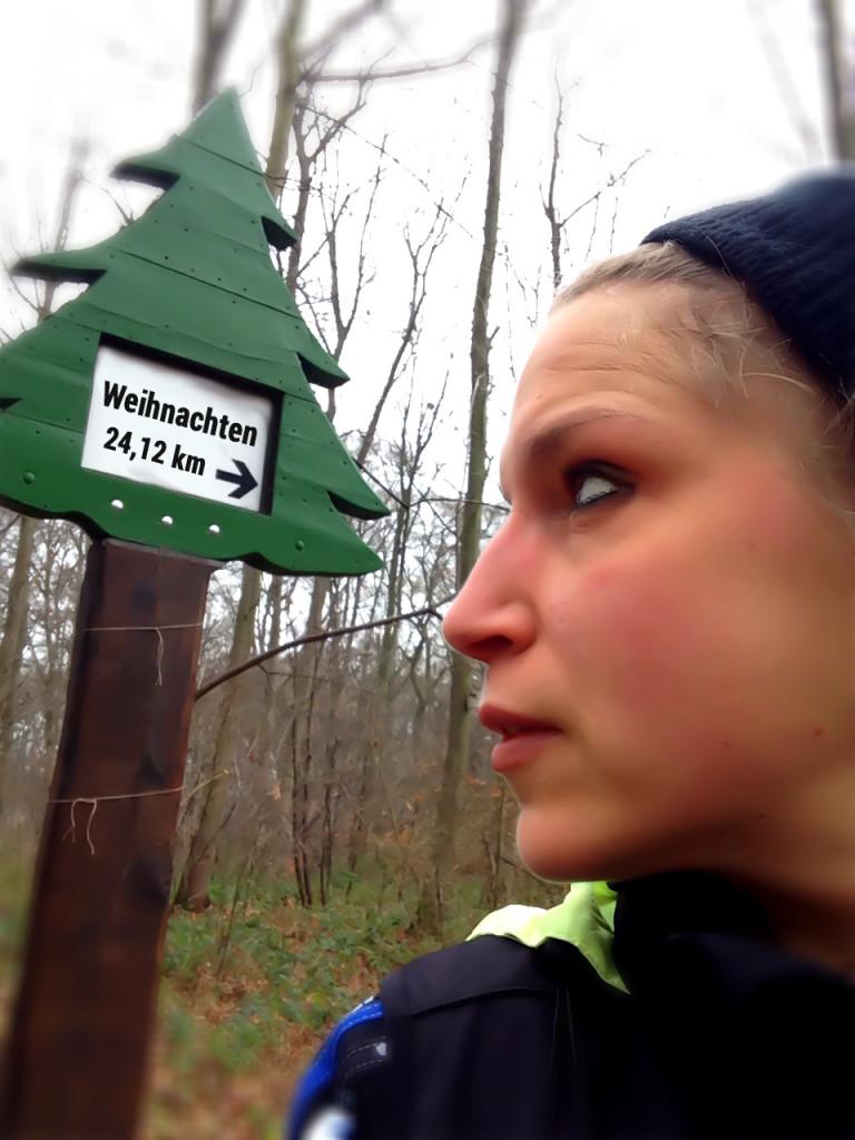 Noch 24 12 Kilometer bis Weihnachten...