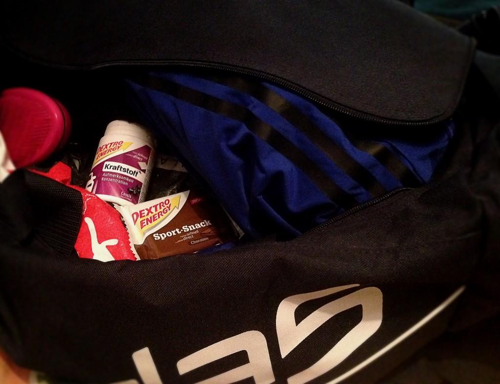 Traubenzucker in der Sporttasche