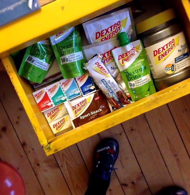 Traubenzucker in der Schublade