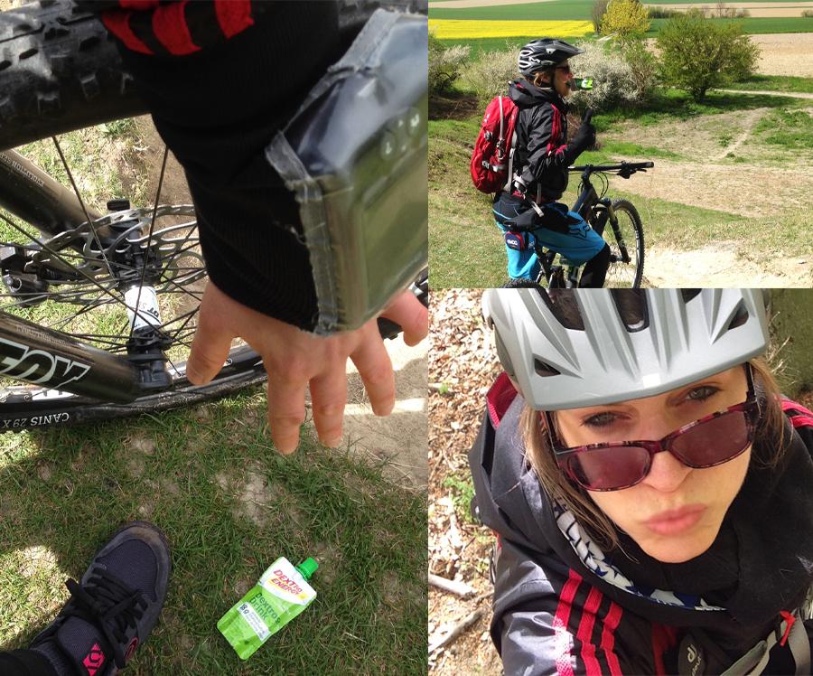 Mountainbike fahren gibt mir den Kick