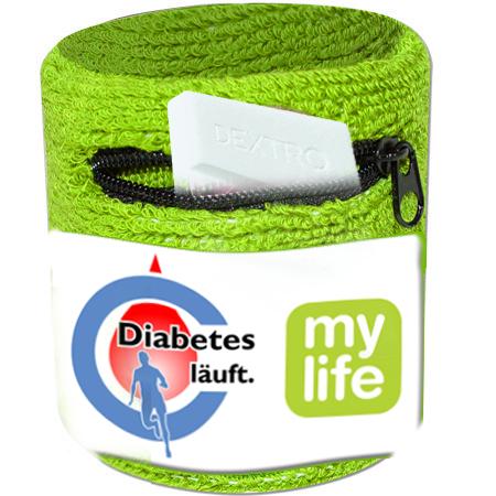 schweißband diabetes laeuft
