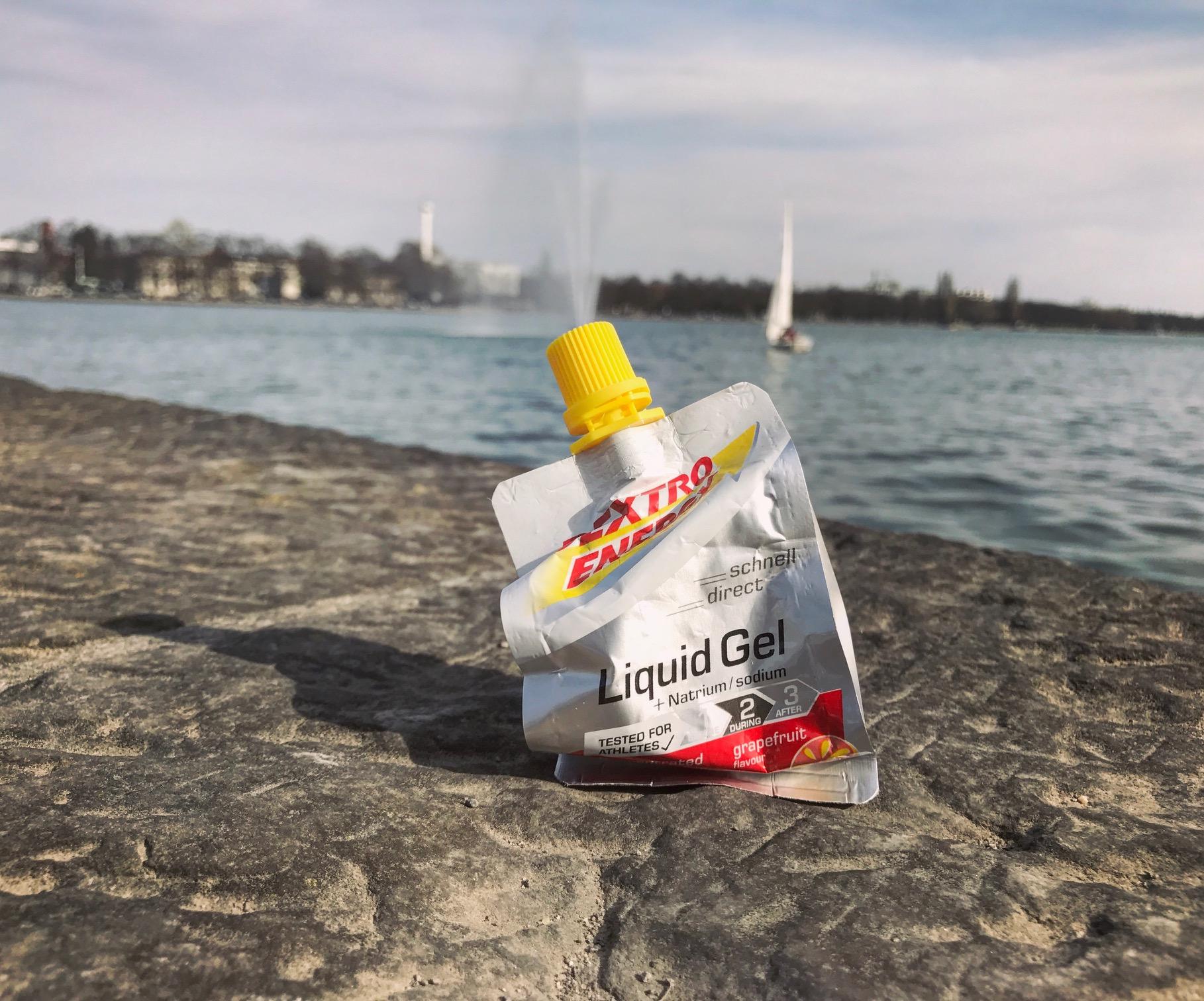 Dextro Energy Liquid Gel für das anstehende Radrennen