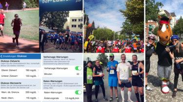 Blutzuckerchaos sportliche Wettkämpfe Marathon und Radrennen