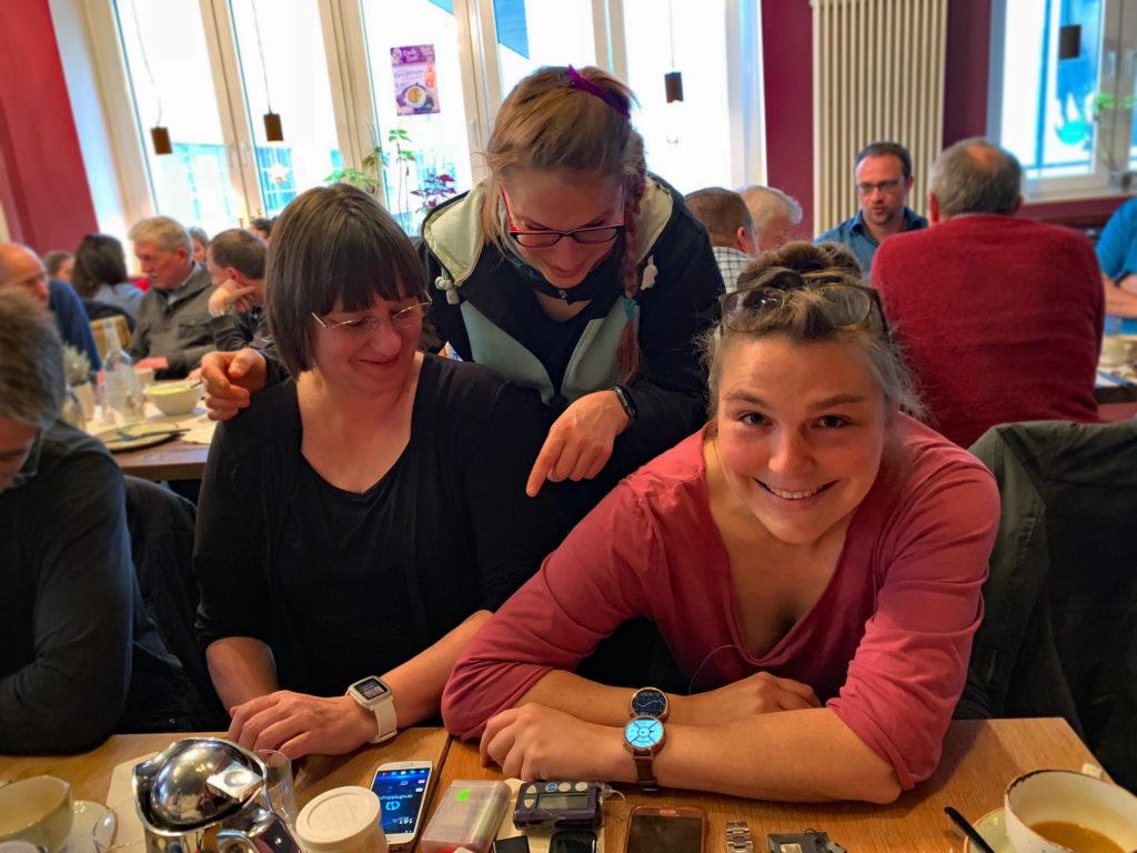 Mit Julia und Saskia Wolf Looper-Treffen